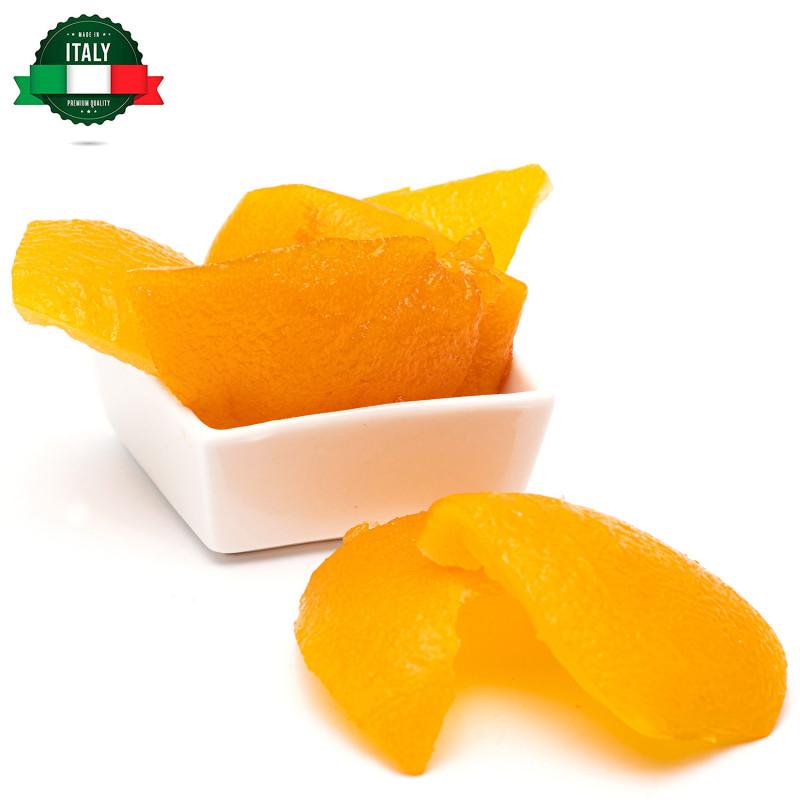 Arancia candita in scorze a quarti